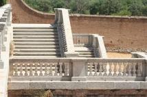 Escalinata para acceder al Campo del Palacio