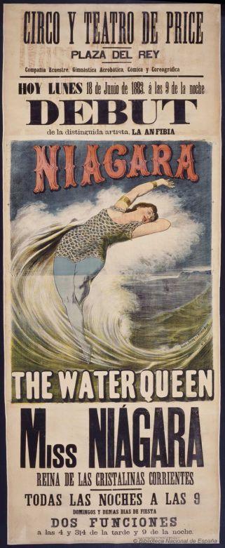 debut-de-la-distinguida-artista-la-anfibia-miss-niagara-circo-price-dibujos-grabados-y-fotografias-1883