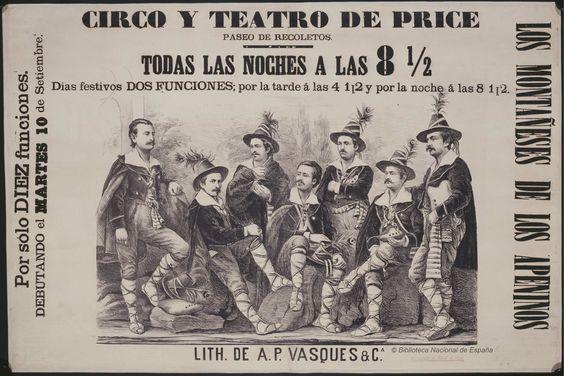 Los montañeses de los Apeninos. Circo Price — Dibujos, grabados y fotografías  1876.jpg