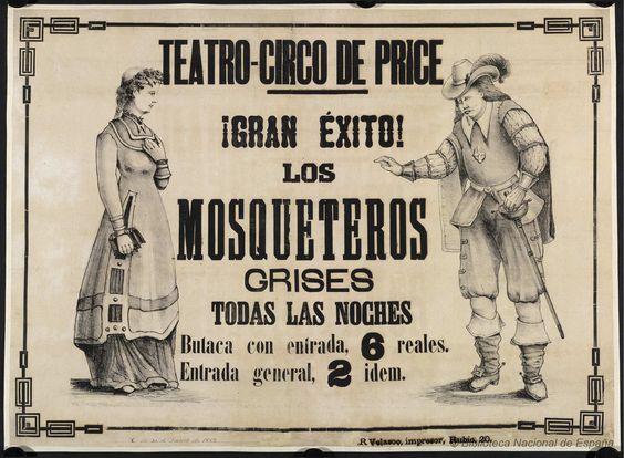 Los mosqueteros grises. Circo Price — Dibujos, grabados y fotografías — 1881.jpg