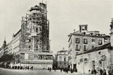 Aspecto de la Gran Vía en 1910