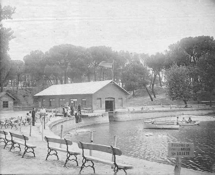 1932, Embarcadero y lago de la Casa de Campo