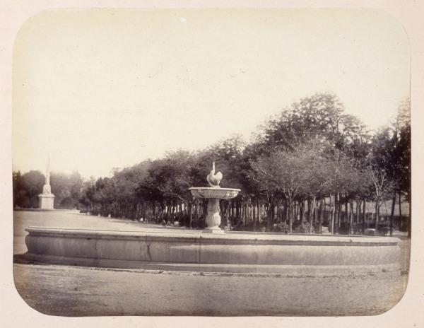 1864, Fuente del Cisne en el Paseo de la Castellana