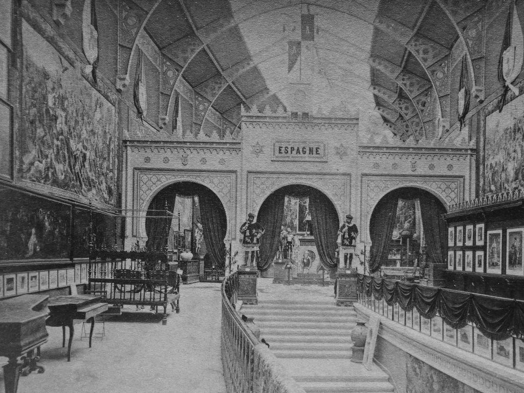 Exposición Universal de París 1878, a la izquierda vemos la pintura El Aquelarre