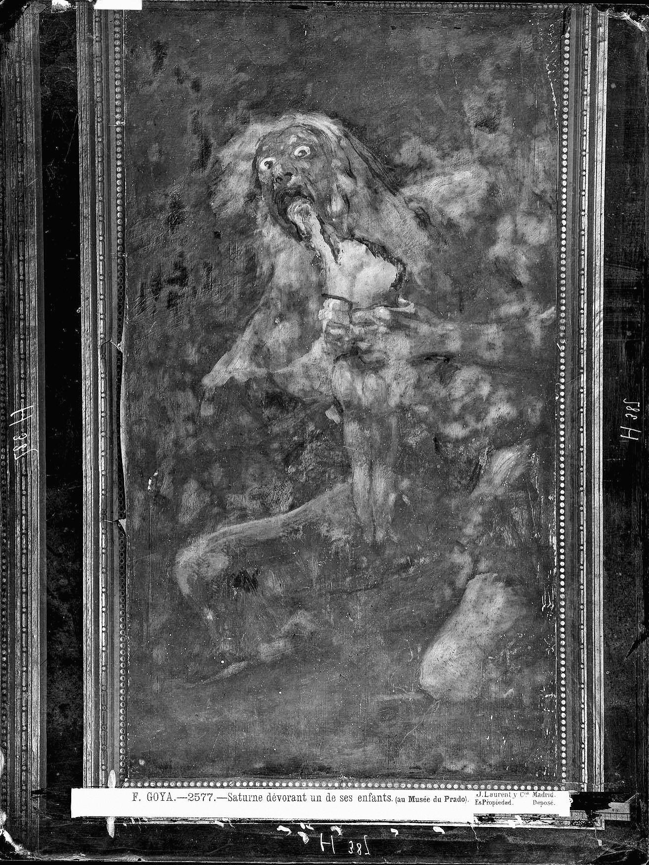 Fotografía de Jean Laurent, Saturno en la Quinta, 1874